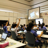 New Education Expo 2015 模擬授業のようす
