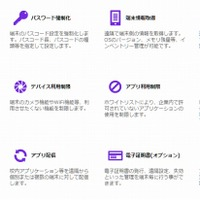 MDMで利用できる主要機能(「MobiConnect for Education」公式サイトより)